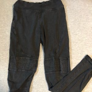 Bp Nordstrom black leggings  with ribbed/ knee pad